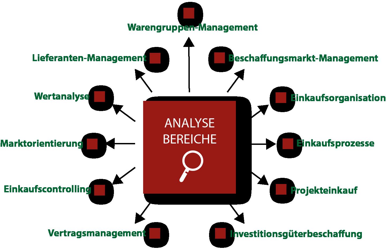Analysebereiche Quick Scan Einkauf